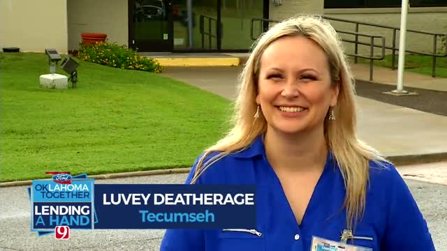 Lending A Hand: Luvey Deatherage