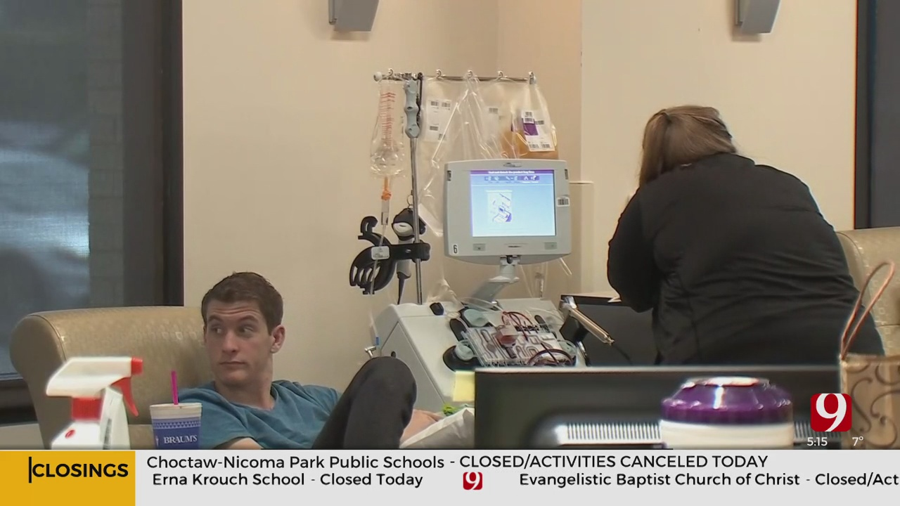 Oklahoma Blood Institute In Need Of Blood Donations After Winter Storm