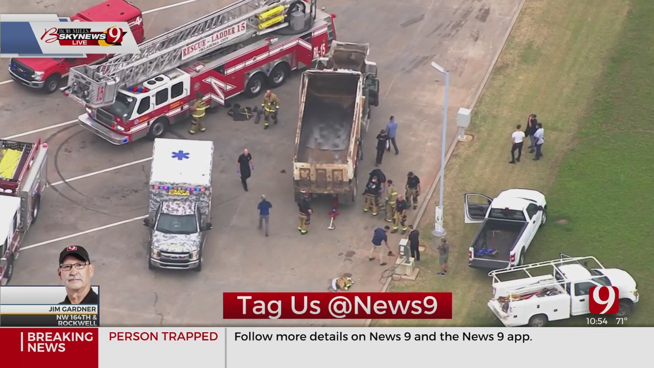 First Responders Free Man Trapped Under Dump Truck