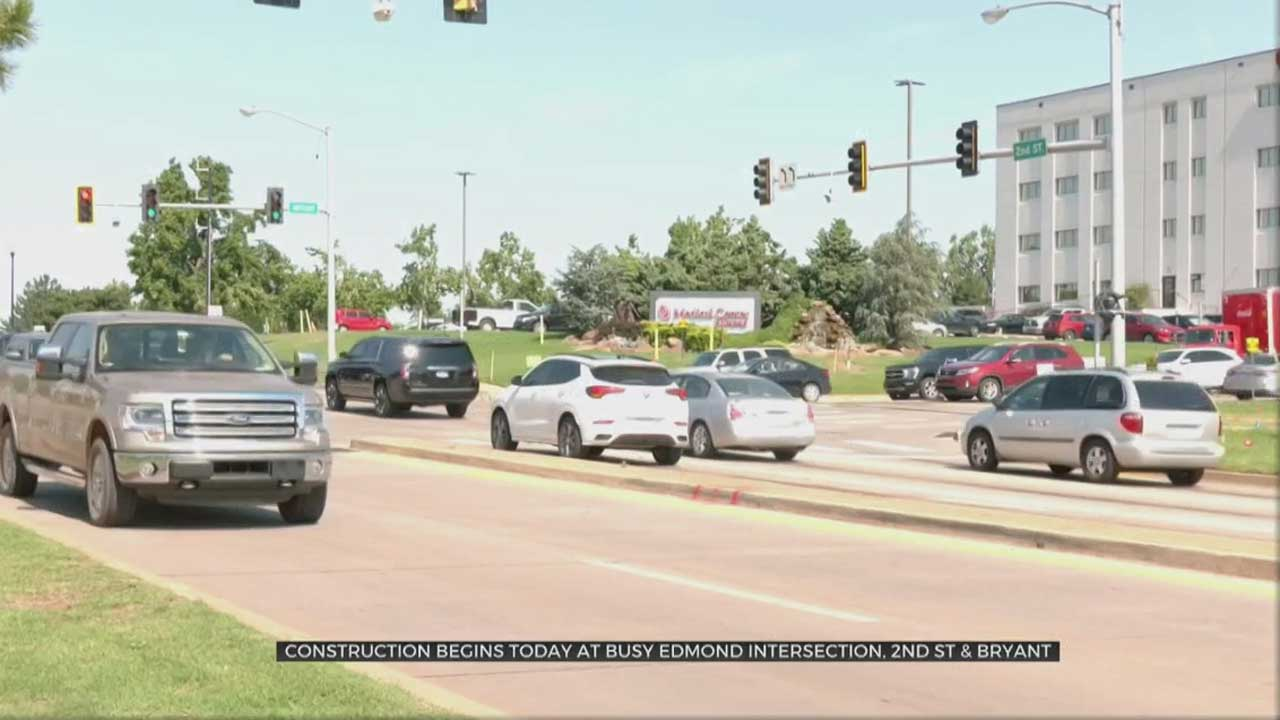 Construction Begins Monday At 2nd Street & Bryant In Edmond
