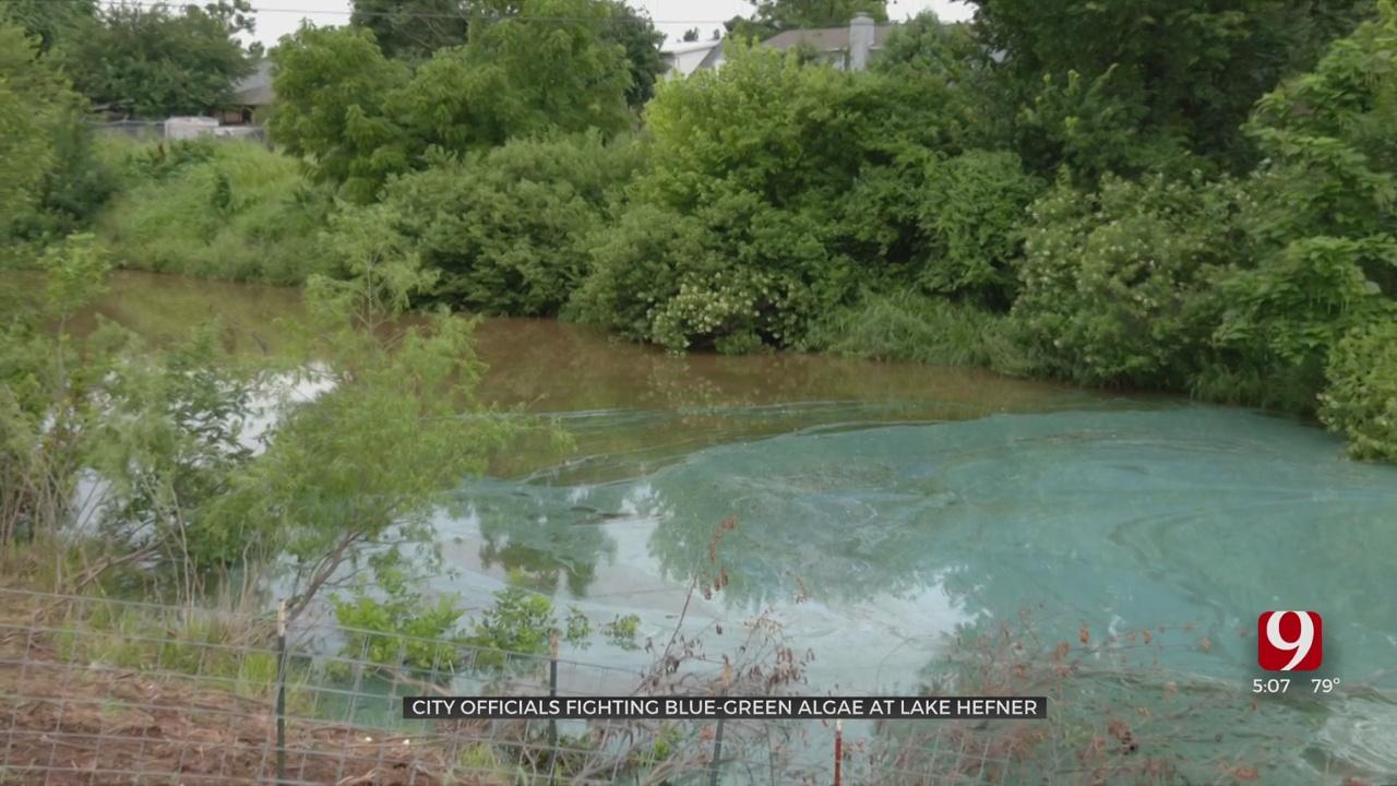 City Officials Treat Lake Hefner For Blue-Green Algae