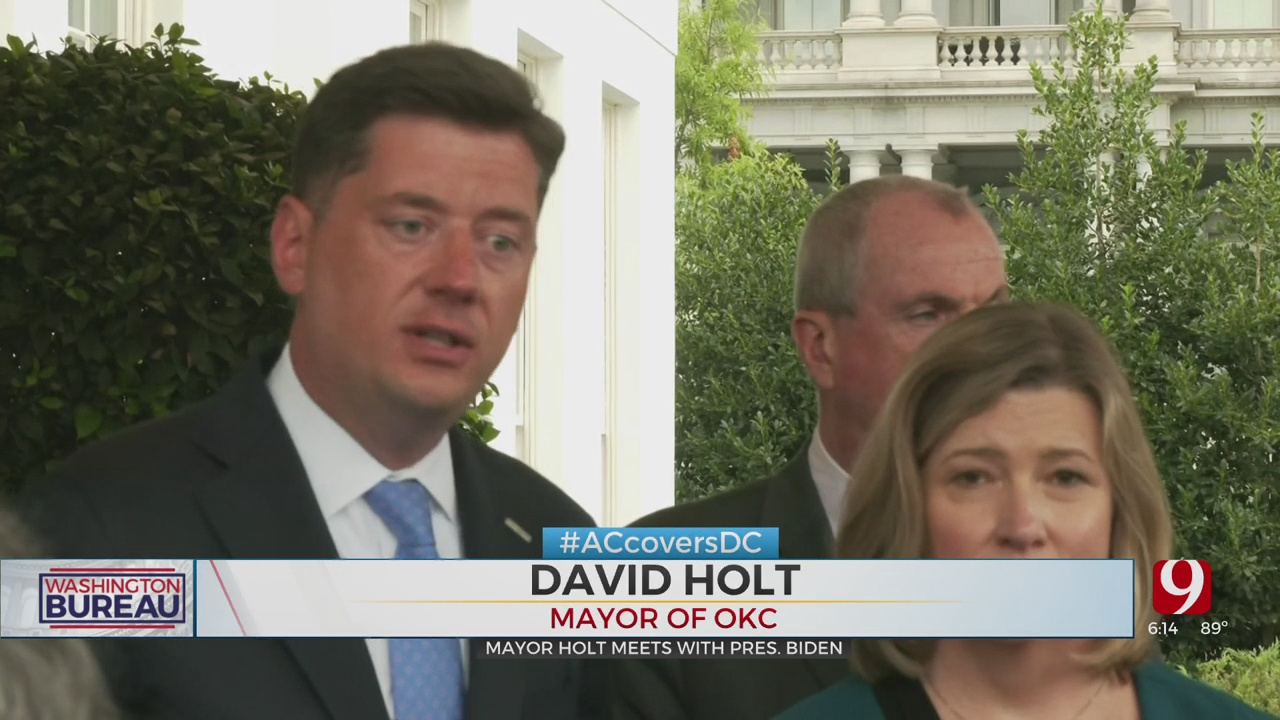OKC Mayor Holt Among Bipartisan Group Meeting With President Biden In DC
