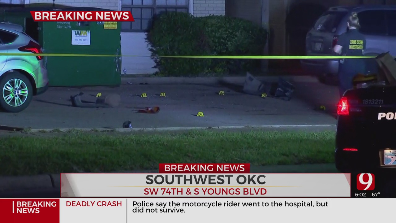 No Injuries After Shots Fired At SW OKC Apartment Complex; Man Arrested After Short Police Chase