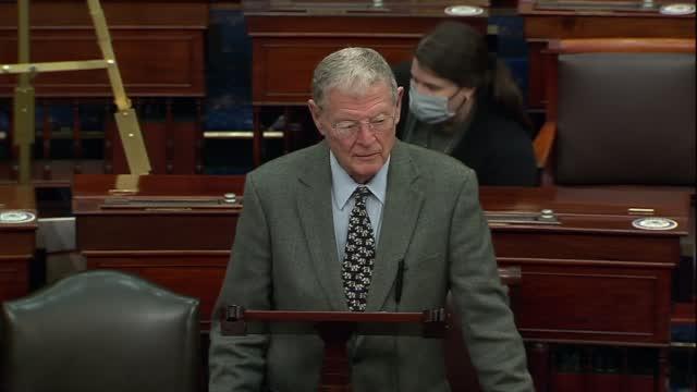 Sen. Inhofe On COVID Relief Bill: 'Get This Last Vote Done Tonight'