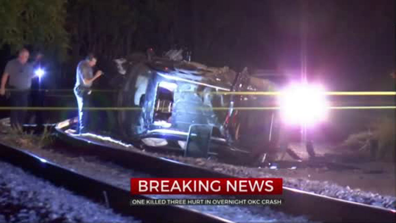 1 Killed, 3 Hurt In Wrong-Way Crash Overnight In Downtown OKC