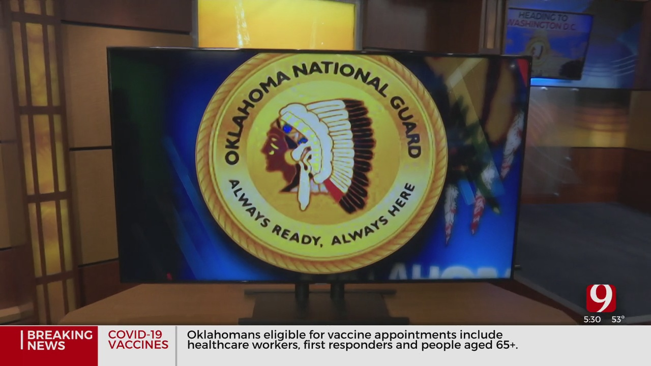 Oklahoma National Guardsmen Leave For Nation's Capital Ahead Of Presidential Inauguration