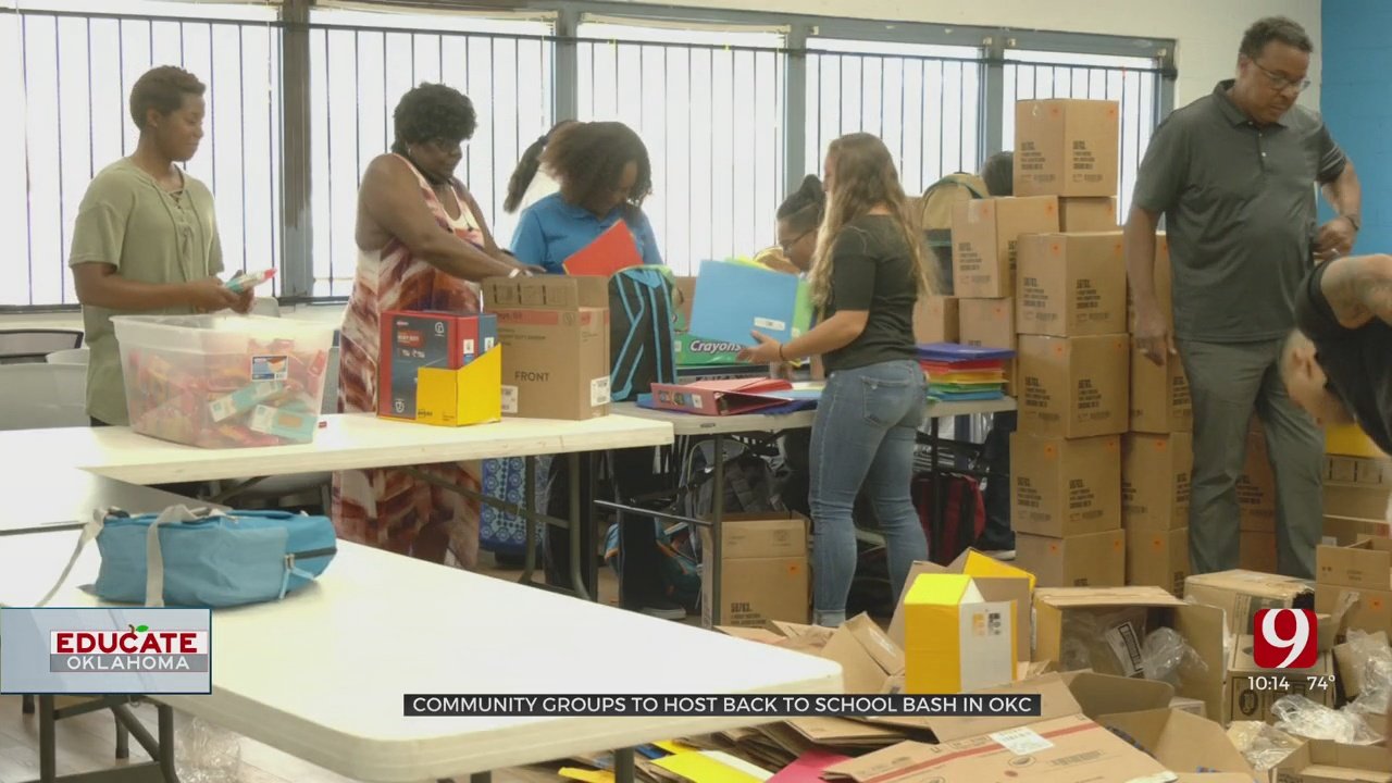 Community Groups Help OKC Students With Supplies As They Head Back To The Classroom