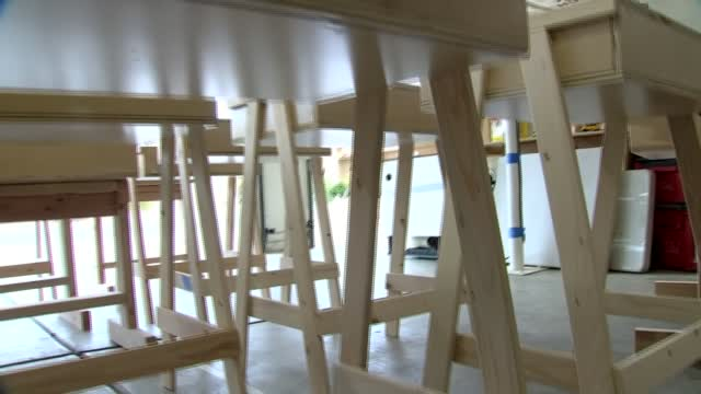 Arizona Man Builds Desks For Students