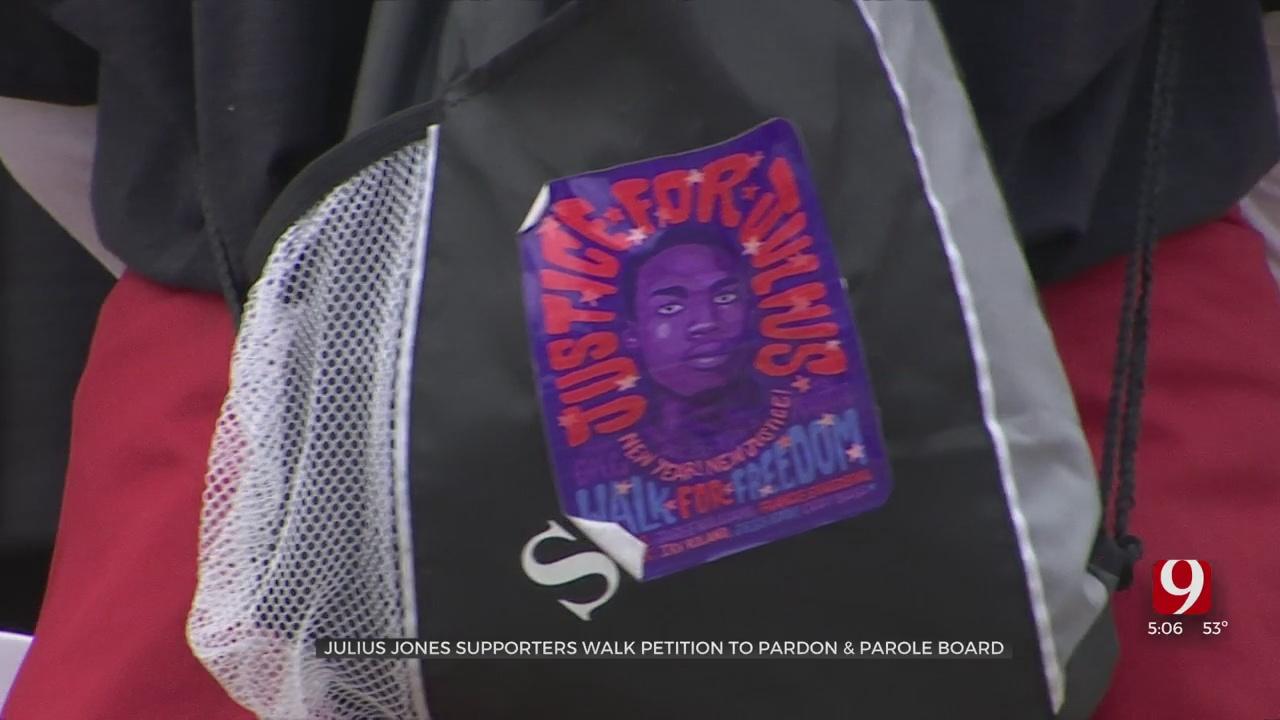 Julius Jones Supporters Walk Petition To Pardon & Parole Board