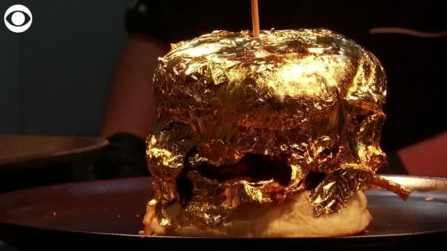 WATCH: Restaurant Offers 24-Karat Gold Topped Burger