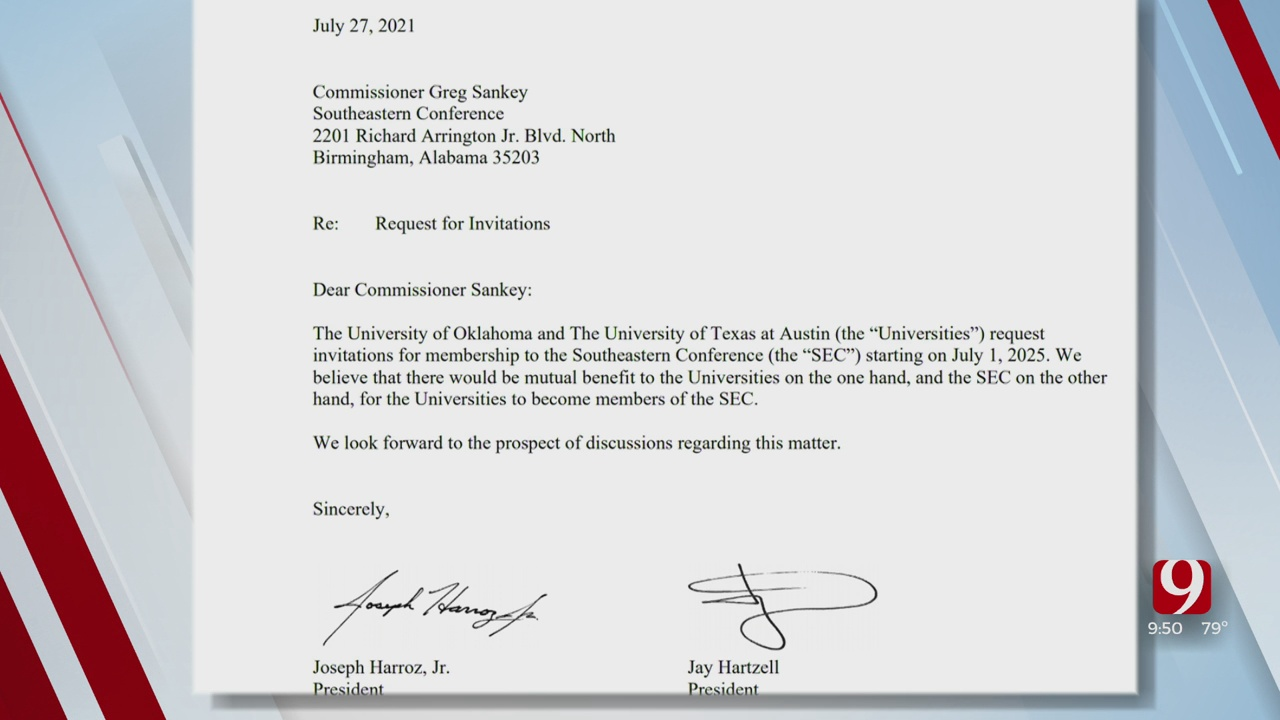 OU & Texas Send Expression Of Interest Request To SEC Commissioner