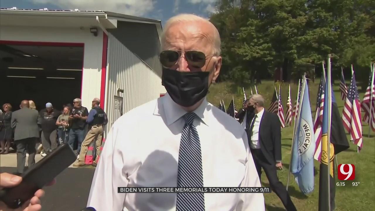 Biden Visits Three Memorials Today Honoring 9/11