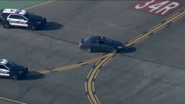 WATCH: Police Chase A Vehicle At An Airport