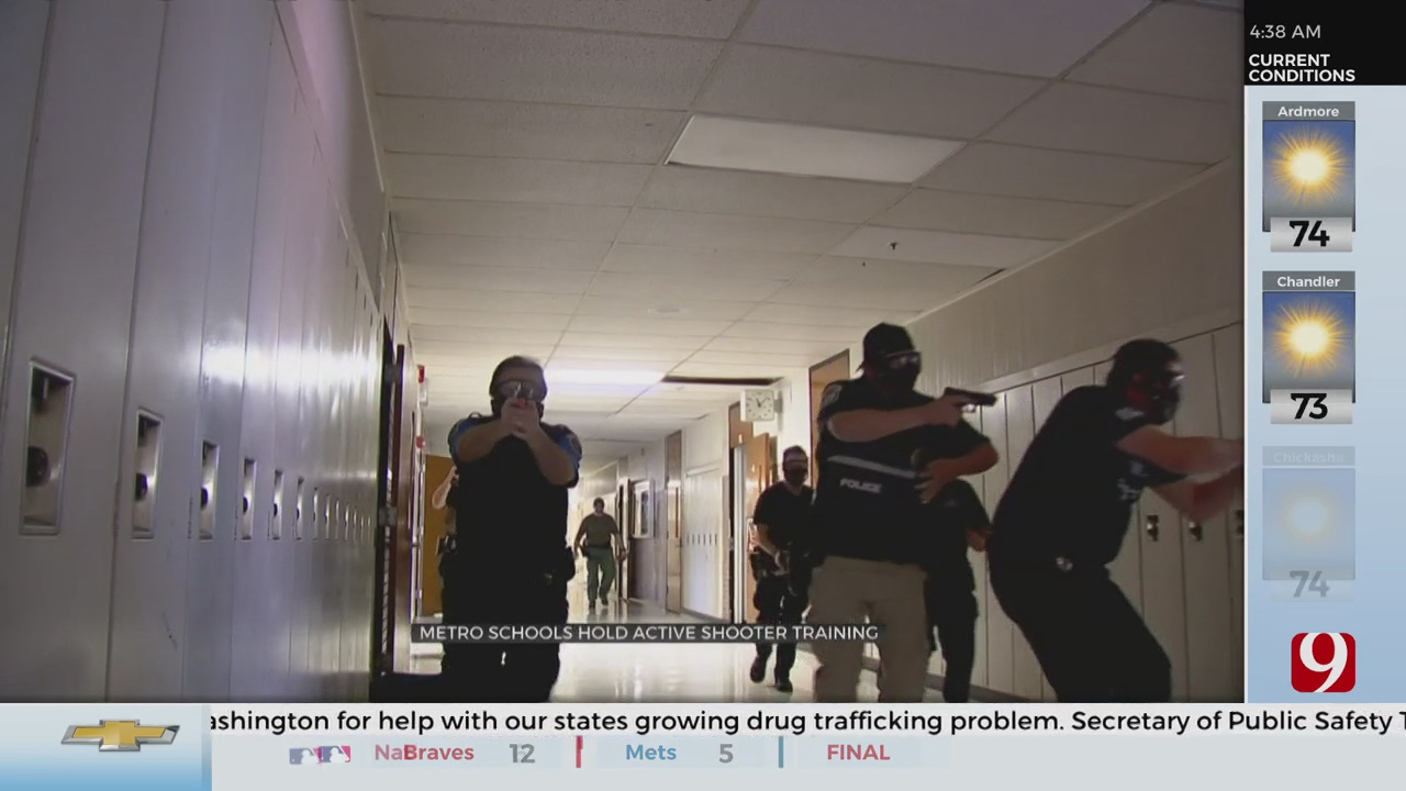 Moore Police Hold Mass Shooting Training At Metro Elementary School