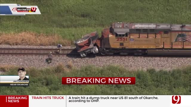 Train Crashes Into Dump Truck In Canadian County
