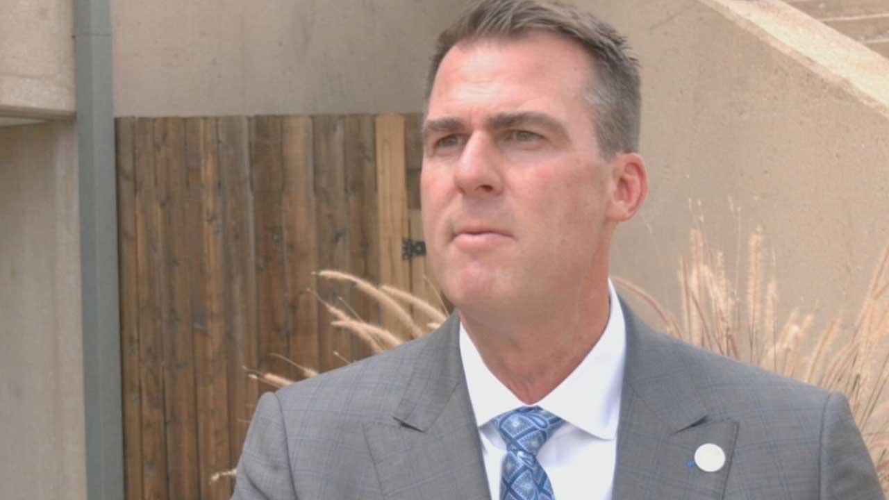 Gov. Stitt Talks COVID-19 As Democrats Call Him Absent On Issue