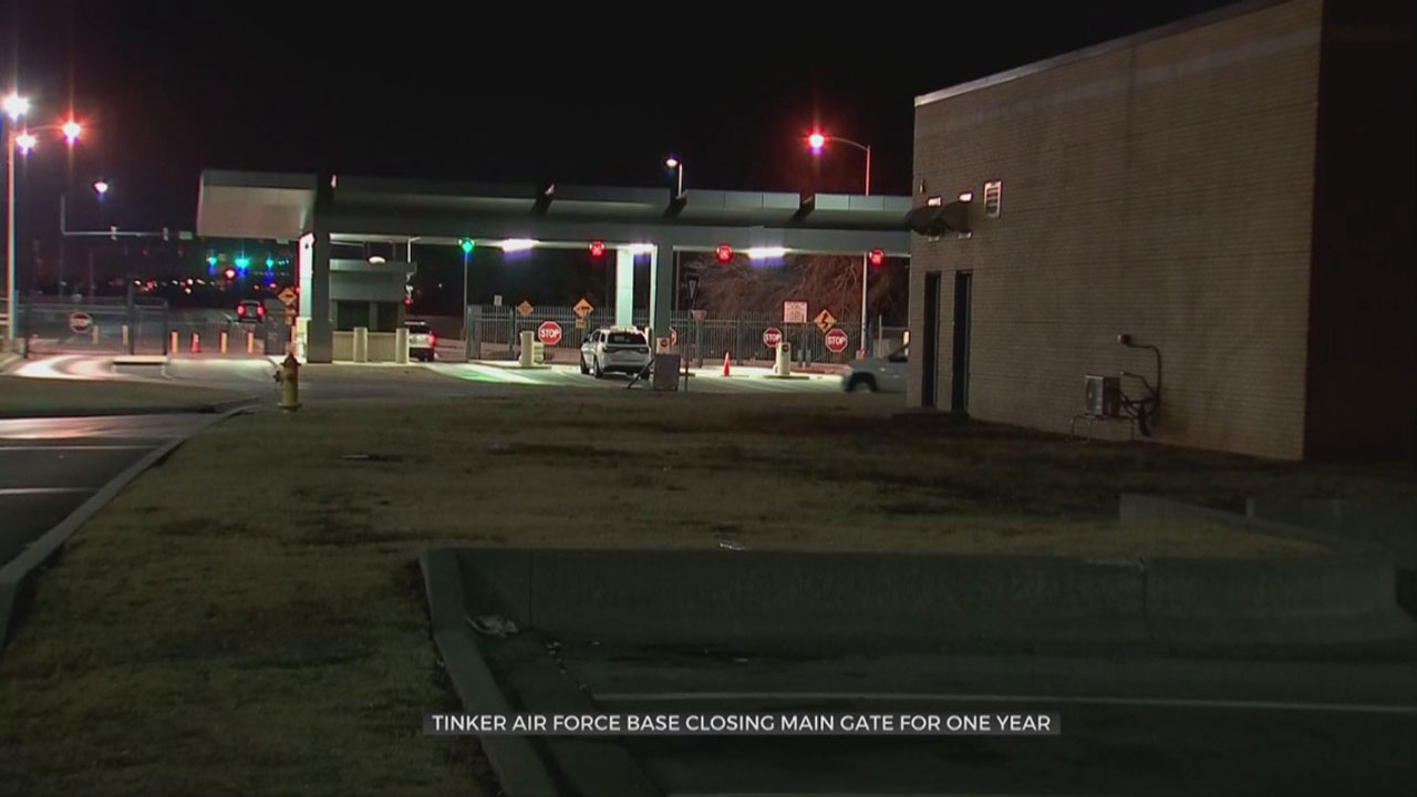 Tinker Air Force Base Closing Gate For 1 Year