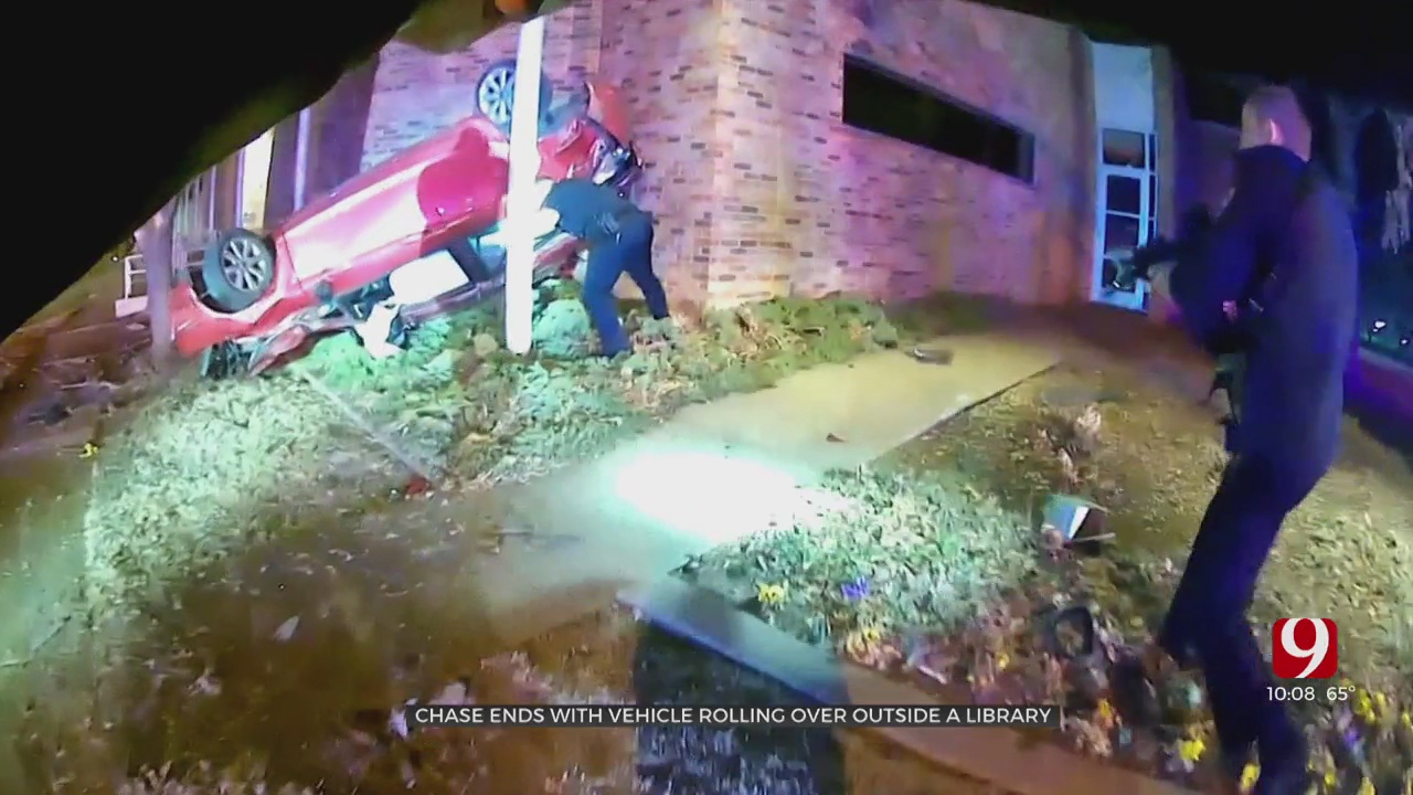 Man Leads Police On High-Speed Chase, Nearly Crashes Into Edmond Library
