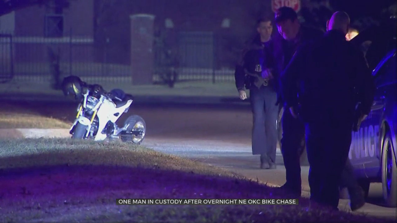 Man In Custody After Leading Officers On Overnight Motorcycle Chase In NE OKC