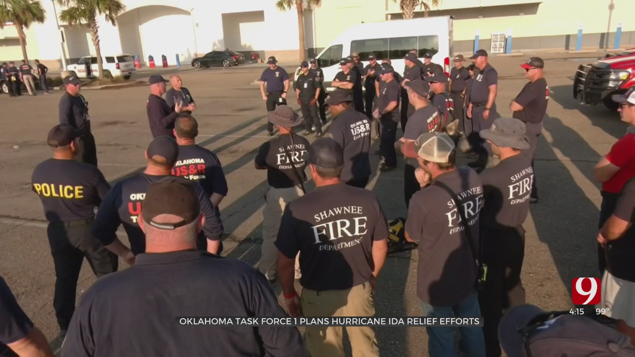 Oklahoma's Task Force 1 Continue Relief Efforts In Louisiana After Hurricane Ida