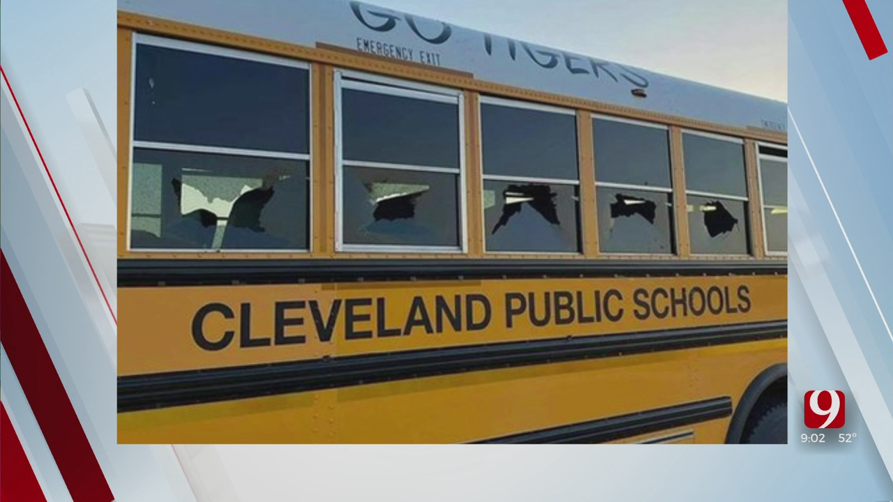 5 Windows Shot Out Of Cleveland Public School Bus On I-35 In OKC