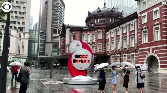 WATCH: Countdown Clock Begins Again In Tokyo