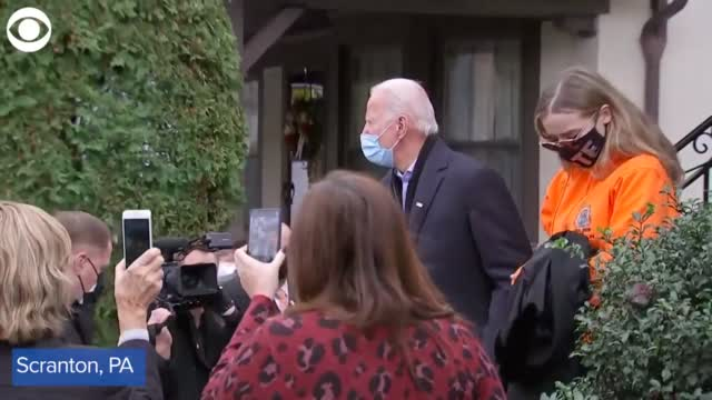 WATCH: Democratic Candidate Biden Visits Childhood Home In Pennsylvania