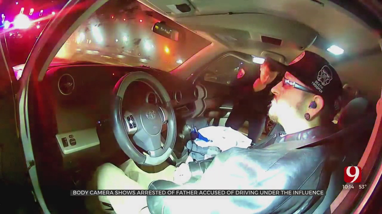 Bodycam Video Shows Arrest Of Father Accused Of Being Under The Influence With Children In Car