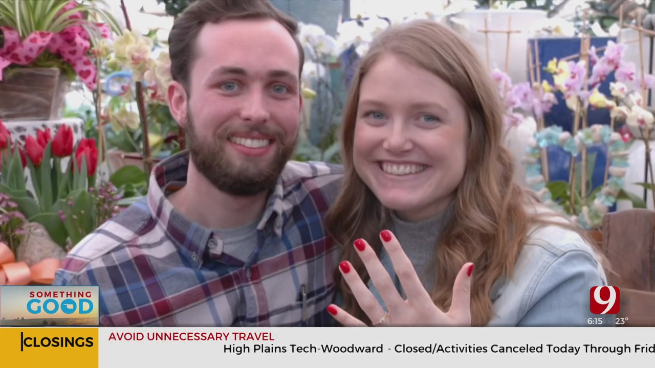 OKC Couple Gets Engaged In Greenhouse During Valentine's Day Weekend