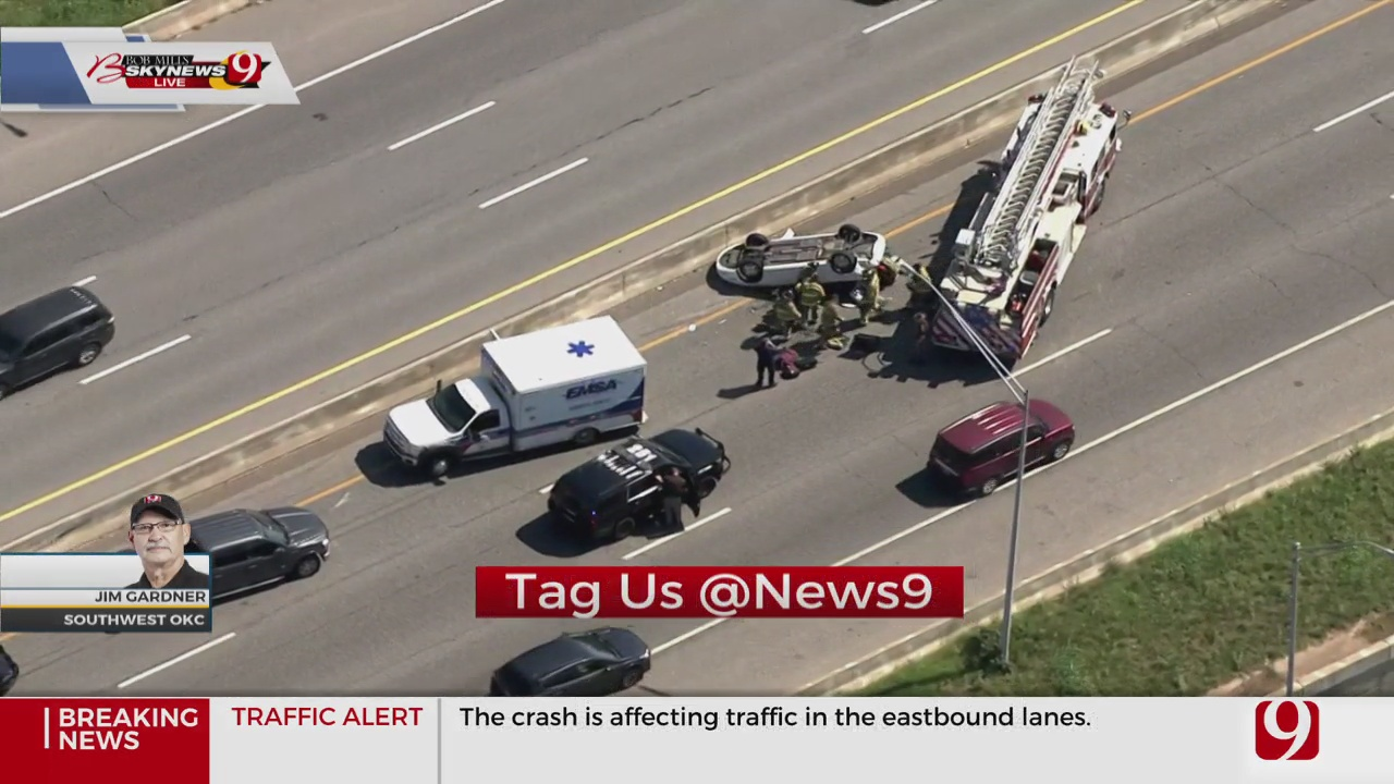 2 People Trapped Following Rollover Accident In SW OKC