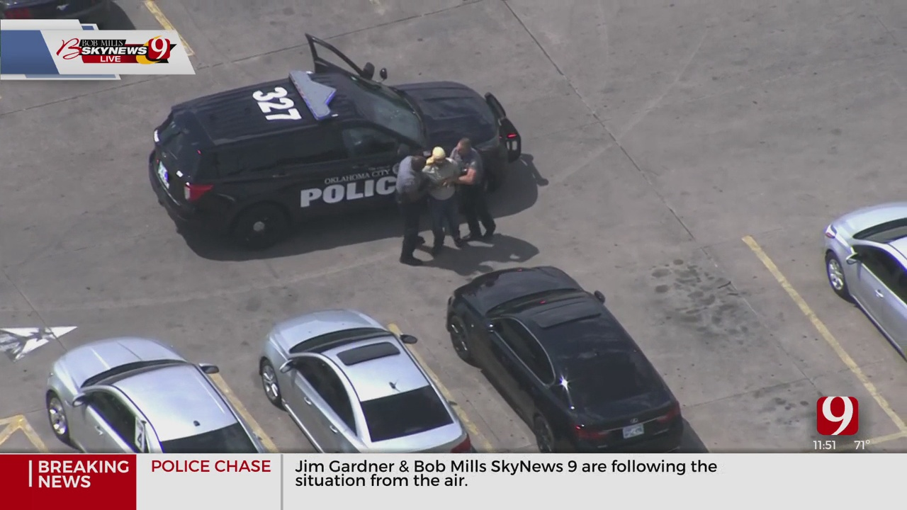 Man Arrested After Slow-Speed Chase In NW OKC