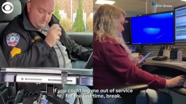 WATCH: Daughter Helps With Police Officer's Retirement Sign Off
