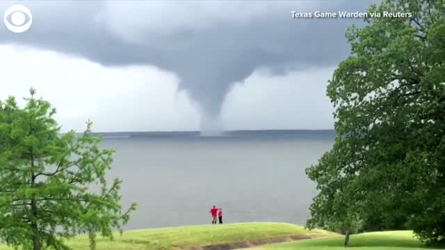 WATCH: Waterspout Spotted Over Texas Lake