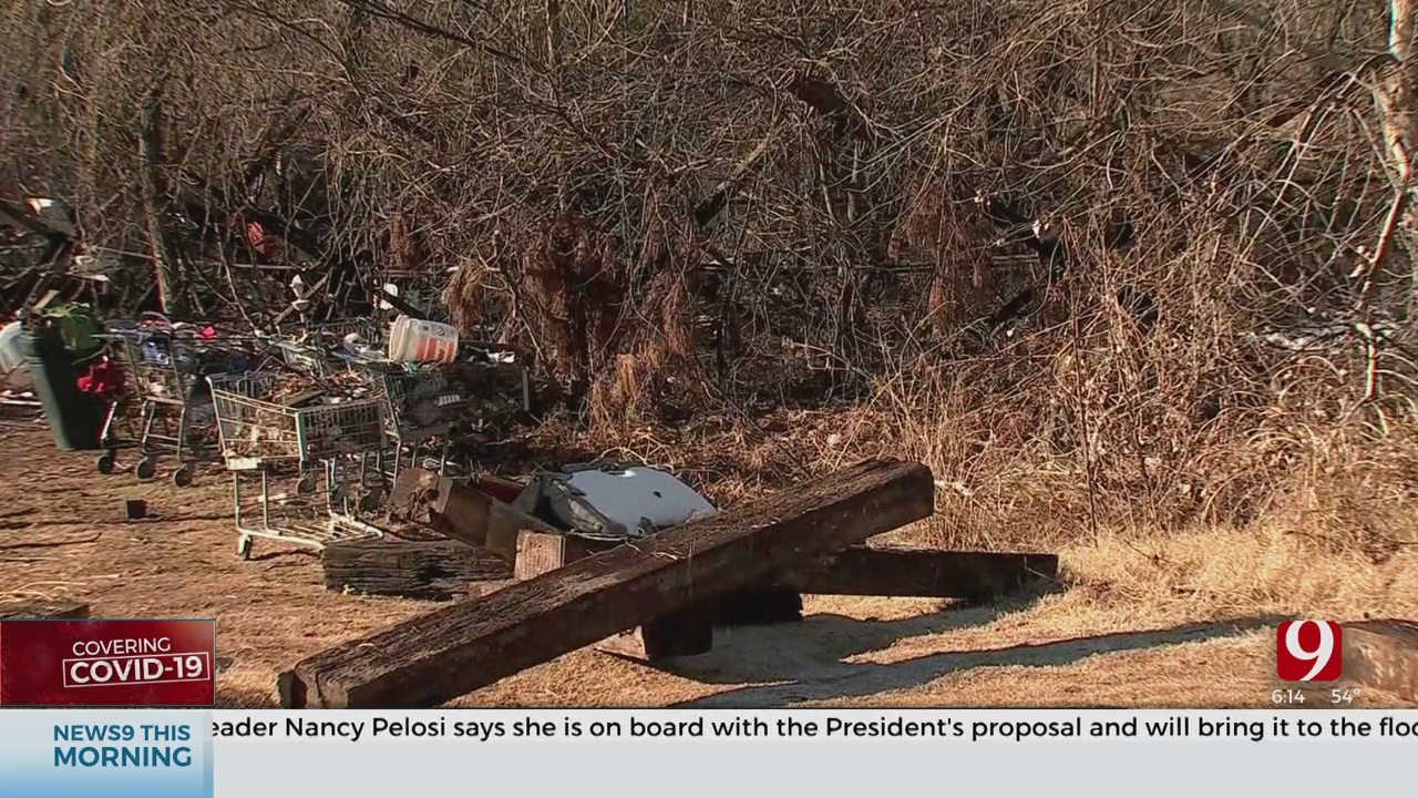 Norman Officials Say Homeless Encampment Can't Be Moved Due To Pandemic