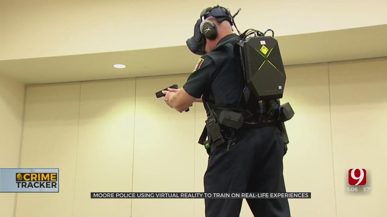 Moore Police Department Using Virtual Reality Simulator For De-escalation Training