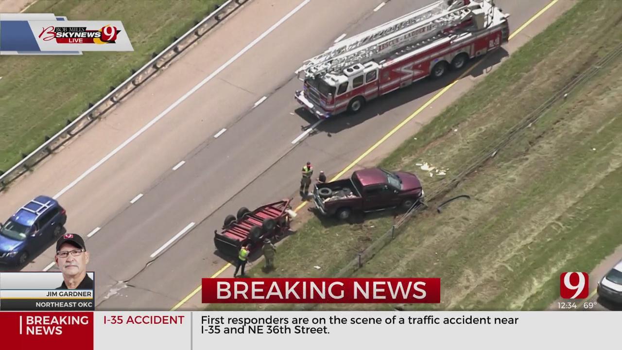 WATCH: Bob Mills SkyNews 9 Over Scene Of NE OKC Accident