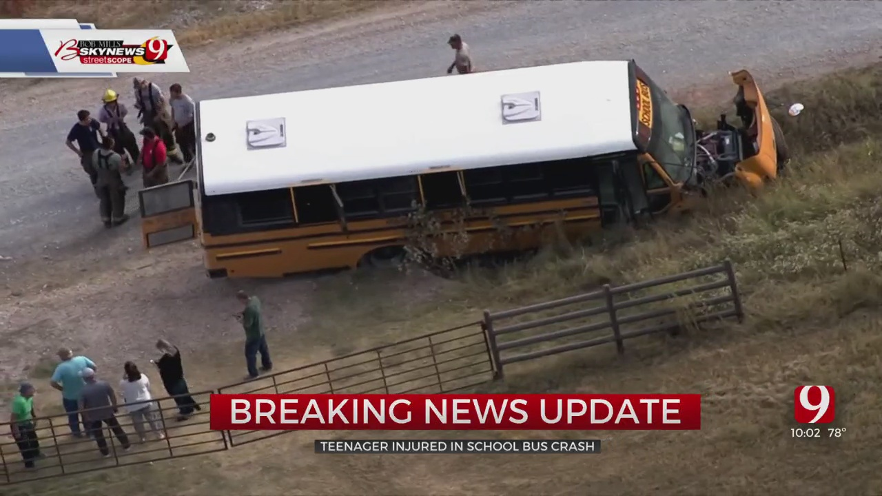 13-Year-Old Student Injured In Crash Involving School Bus In Canadian County