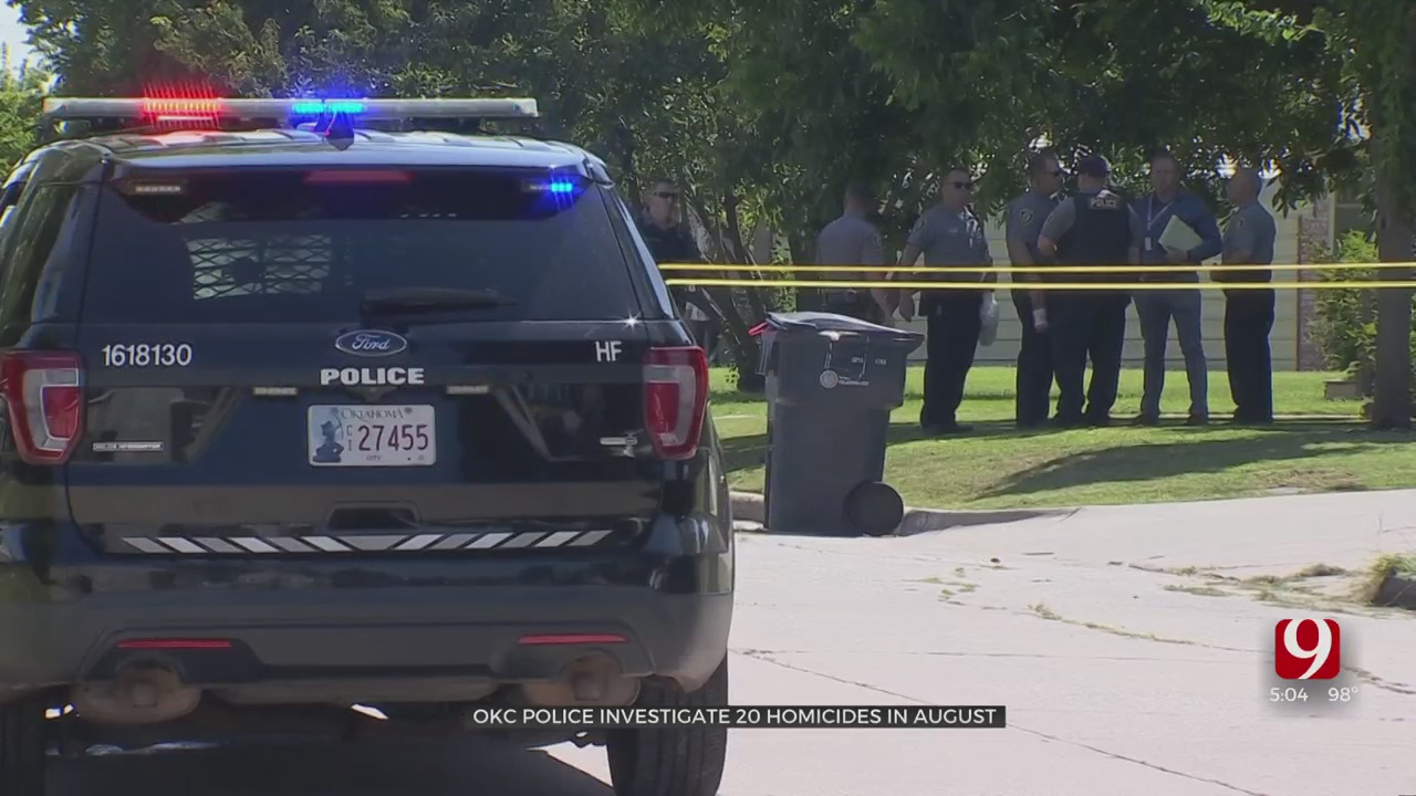 OKC Police Investigate 20 Homicides In Month Of August