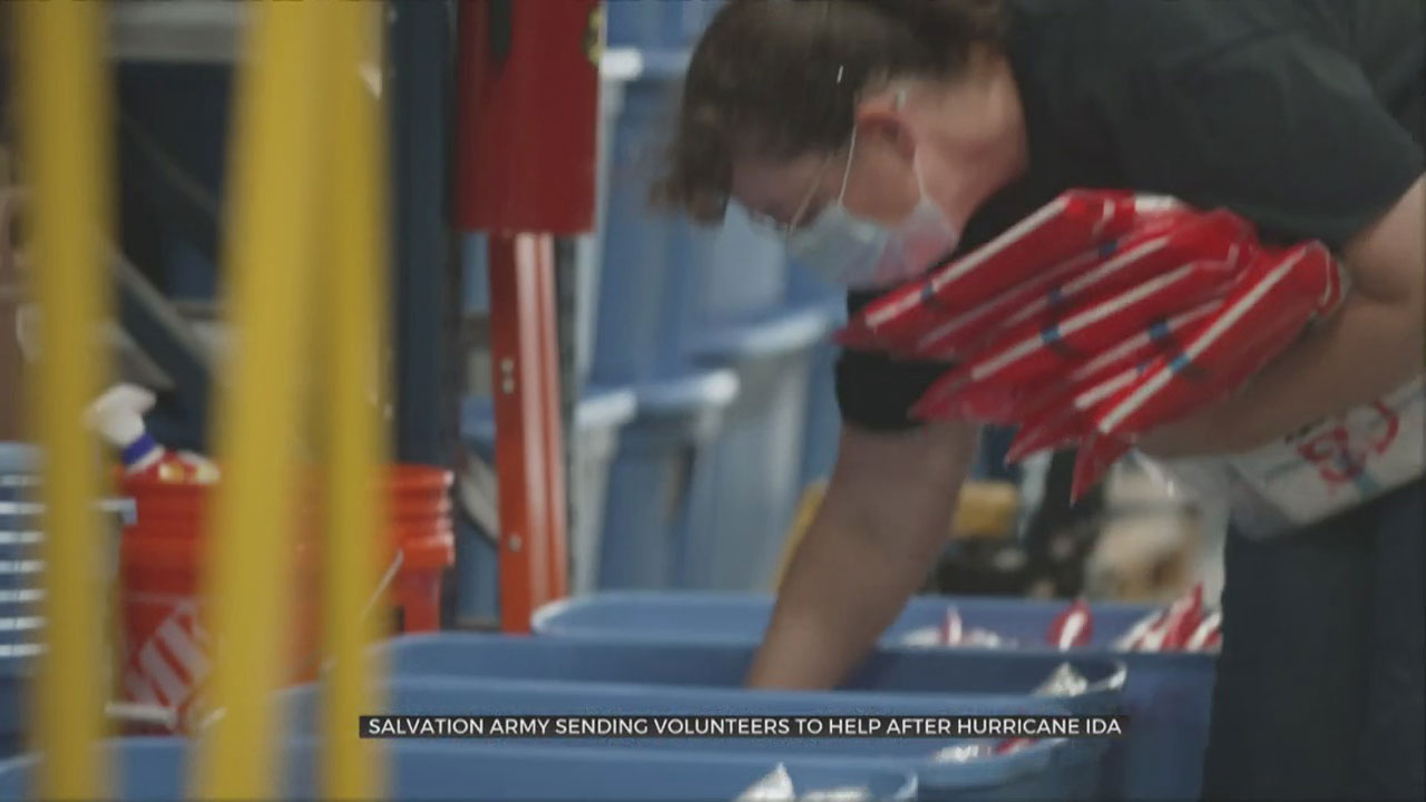 Oklahoma Salvation Army Loads Up Relief For Louisiana
