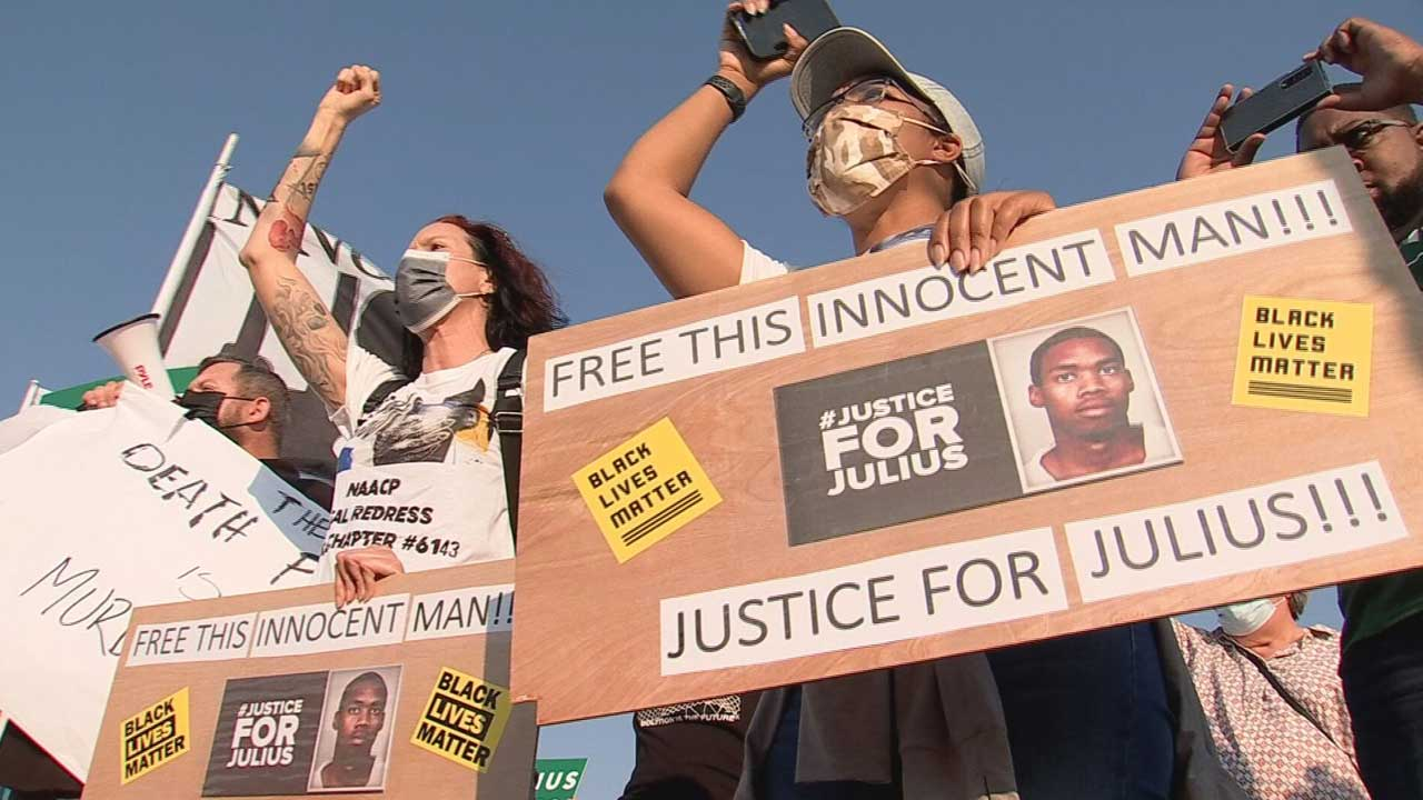 Group Marches In Solidarity For Death Row Inmate Julius Jones