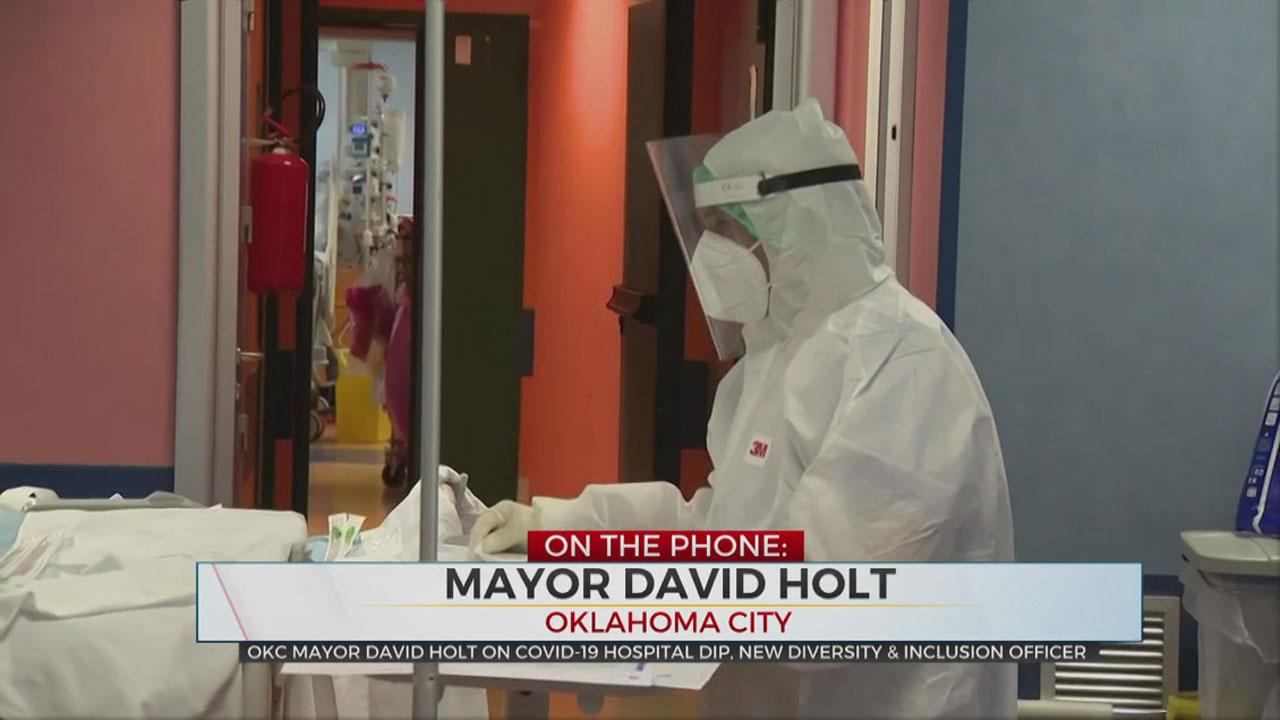 WATCH: OKC Mayor Holt On Slight Decline In COVID-19 Hospitalizations