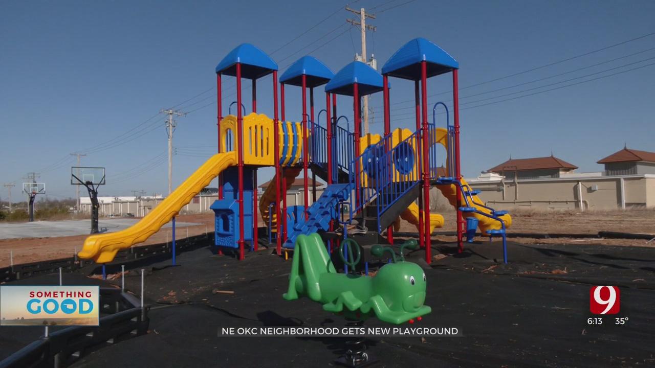 Northeast Oklahoma City Welcomes New Playground & NBA Size Playground