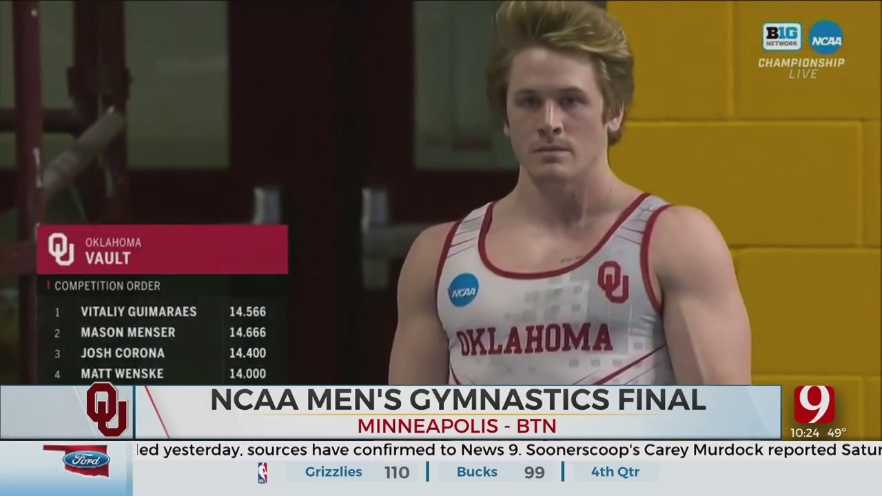 Stanford Beats Oklahoma To Capture Men's Gymnastics National Championship
