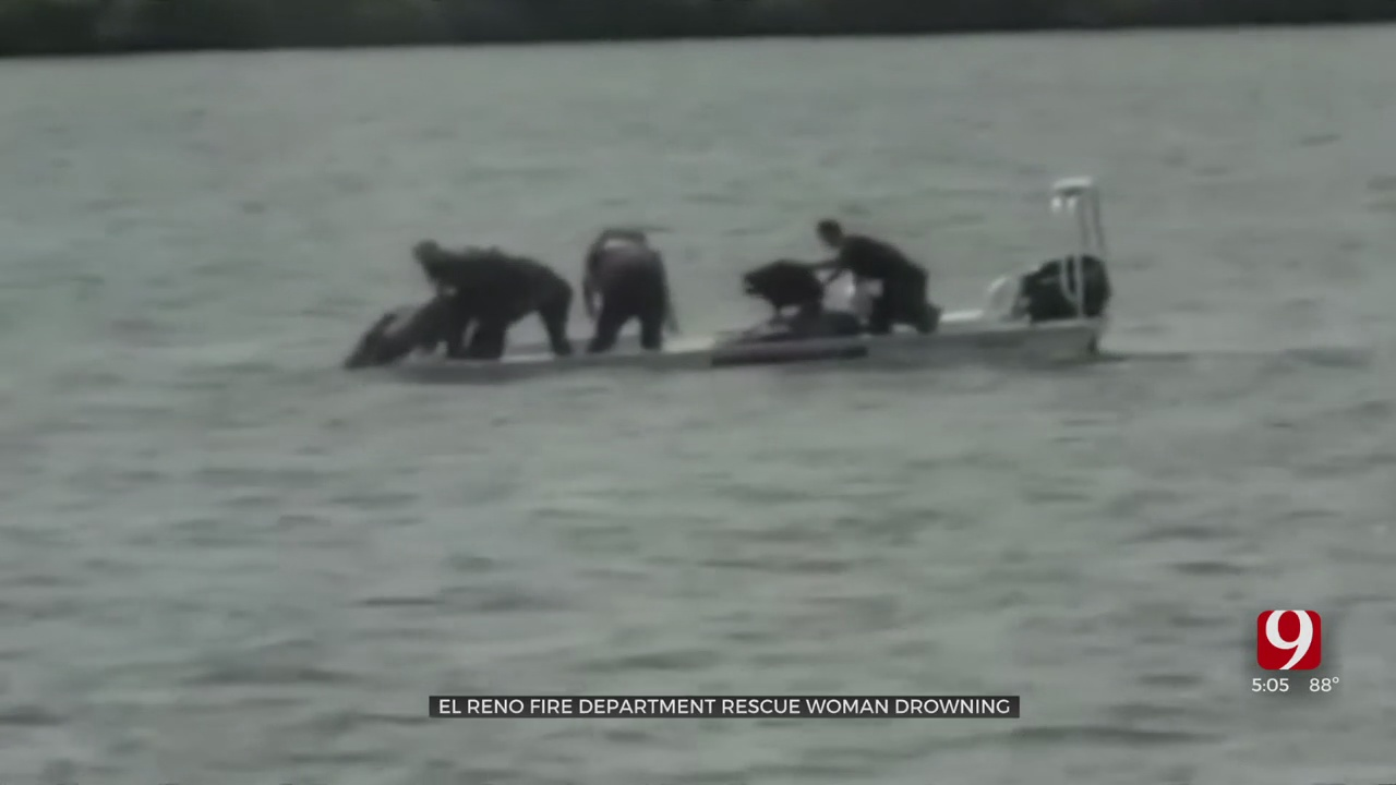 El Reno Fired Rescues Woman From Near Drowning, Just Hours After Swift-Water Training