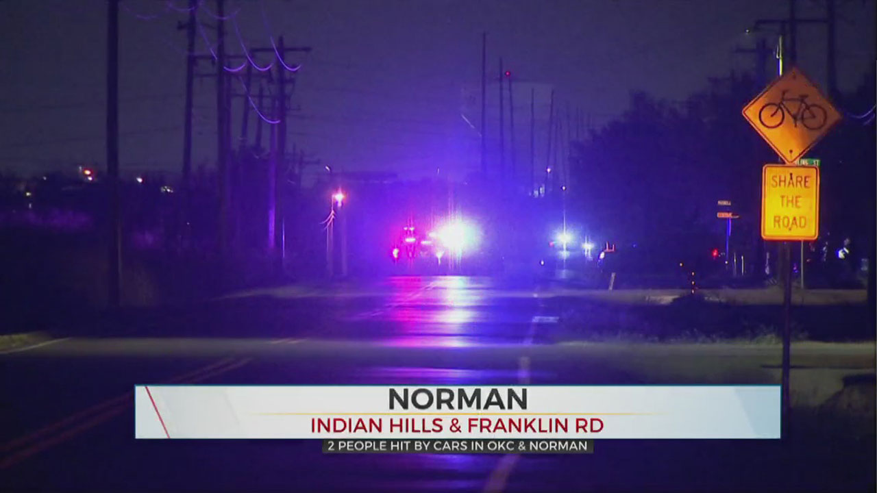 2 Hit By Cars In Separate Accidents In OKC, Norman