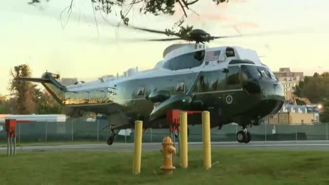 WATCH: President Trump Arrives At Walter Reed After Testing Positive For COVID-19