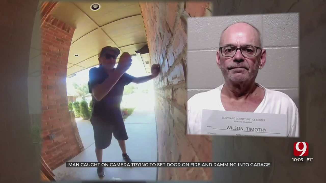 Norman Man Caught On Camera Dousing Home With Gasoline, Driving Car Into Garage