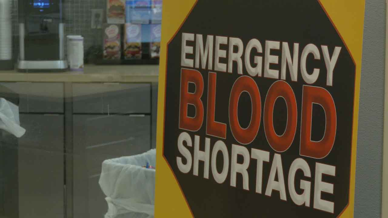 Oklahoma Blood Institute Facing 'Less Than One Day Supply' Ahead Of Weekend Snowstorm