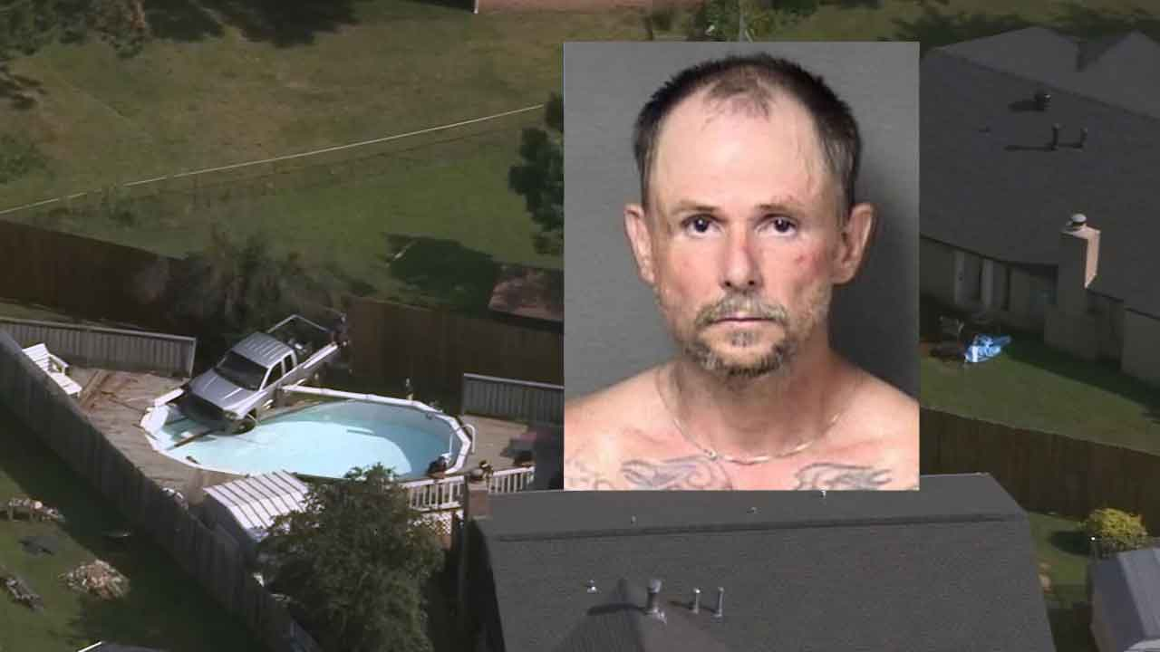 Pursuit Ends After Suspect Crashes Stolen Truck Into Yukon Pool