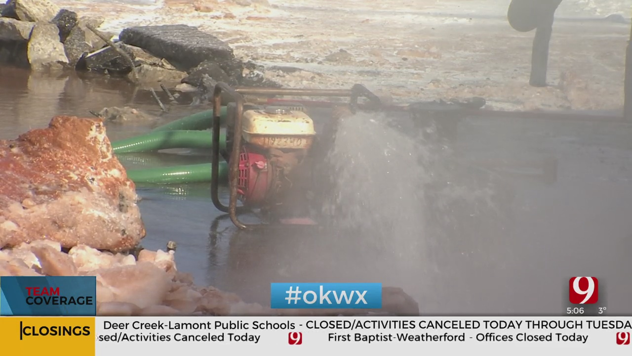 Water Main Breaks Force OKC Residents To Go Without Water For Hours